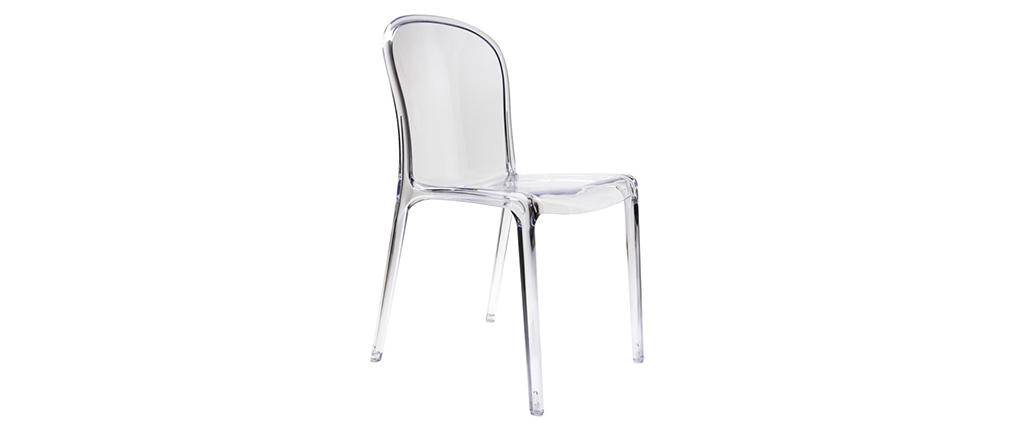 THALYSSE Transparent Modern Polycarbonate Chair (set of 2)