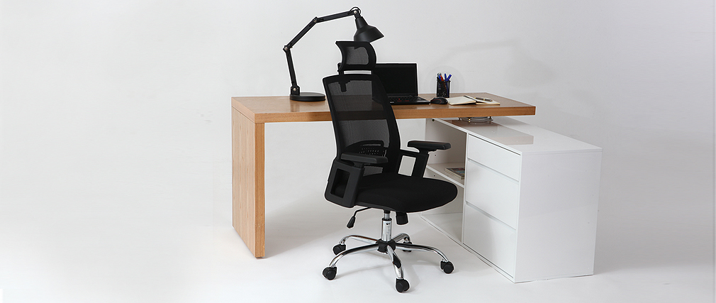 TITAN black ergonomic designer office chair