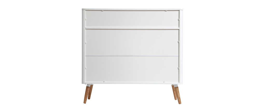 TOTEM Scandinavian designer white and wood sideboard
