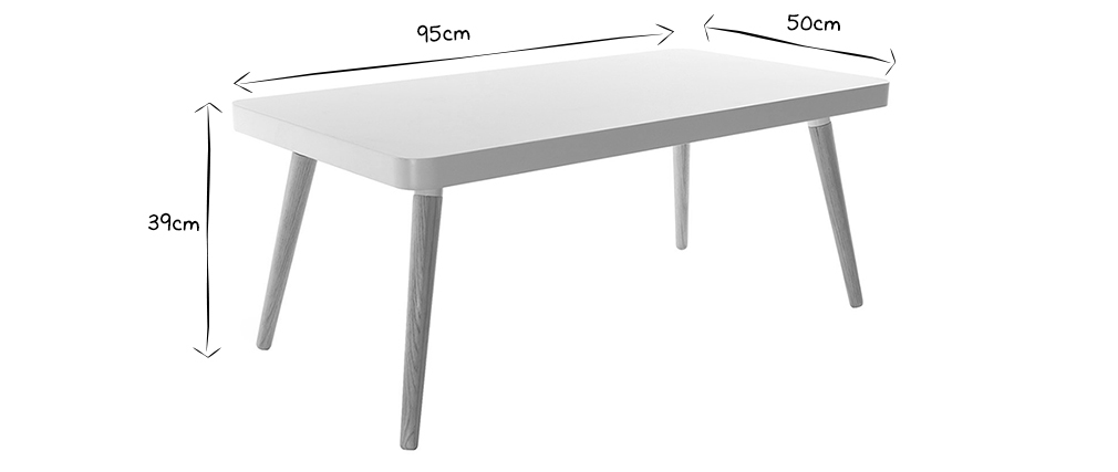 TOTEM Scandinavian Style Coffee Table