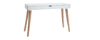 TOTEM White and Wood Scandinavian Style Desk
