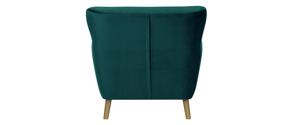 Traditional green velvet MAYFAIR armchair