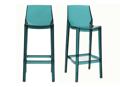 Transparent Blue Modern Bar Stool YLAK (set of 2)