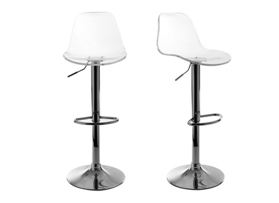 Transparent Modern Bar Stool (set of 2) GALILEO