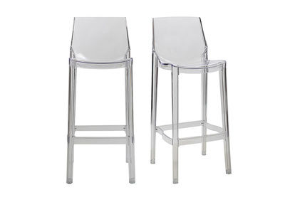 Transparent Modern Bar Stool YLAK (set of 2)