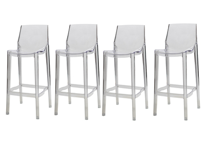 Transparent Modern Bar Stool YLAK (set of 4)