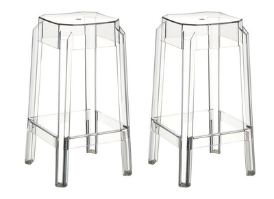 Transparent Modern Bar Stools CLEAR 65cm Set of 2