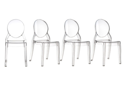 Transparent Modern Chair (set of 4) LOUISON