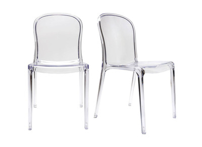 Transparent Modern Polycarbonate Chair THALYSSE (set of 2)