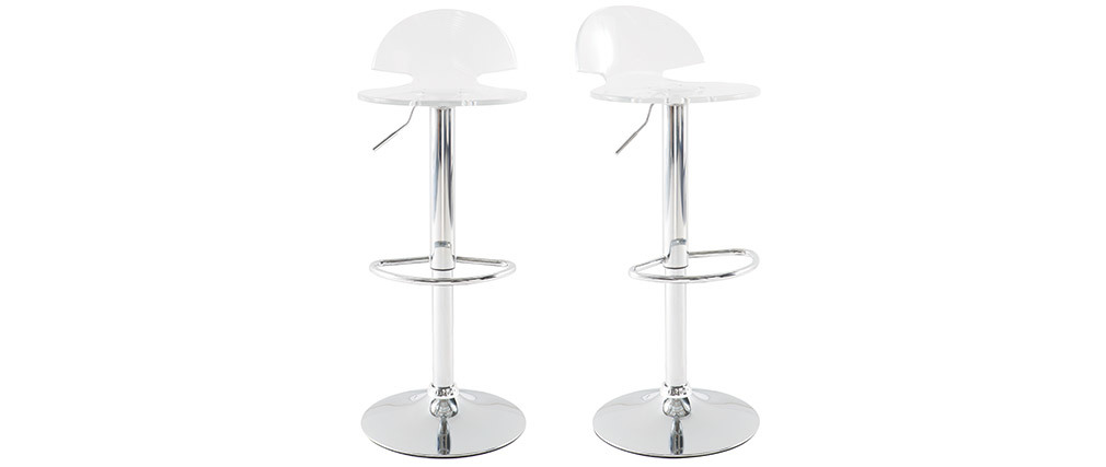 Transparent plexiglass Modern Bar/Kitchen Stool ORION