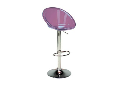 Transparent Purple Bar Stool MOPPY
