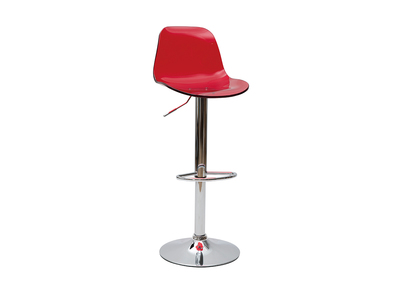 Transparent Red Modern Bar Stool GALILEO