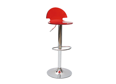 Transparent Red plexiglass Modern Bar/Kitchen Stool ORION