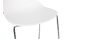 TROCADERO set of 2 designer white stackable bar stools 76.5cm