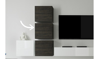 TV storage combination COLORED Square Wenge Wood