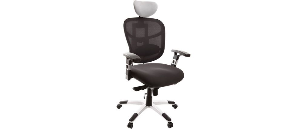 UP TO YOU black and white ergonomic office chair