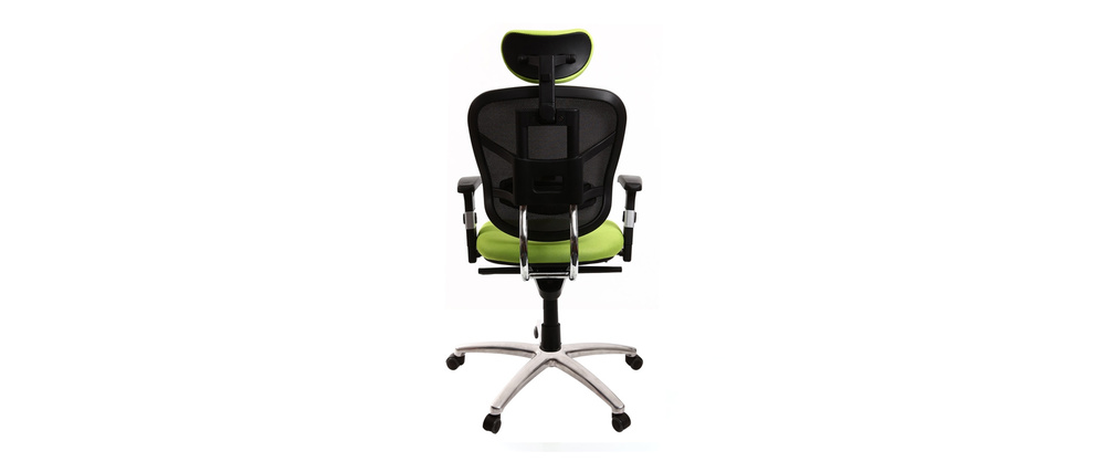 UP TO YOU lime green and black ergonomic office chair