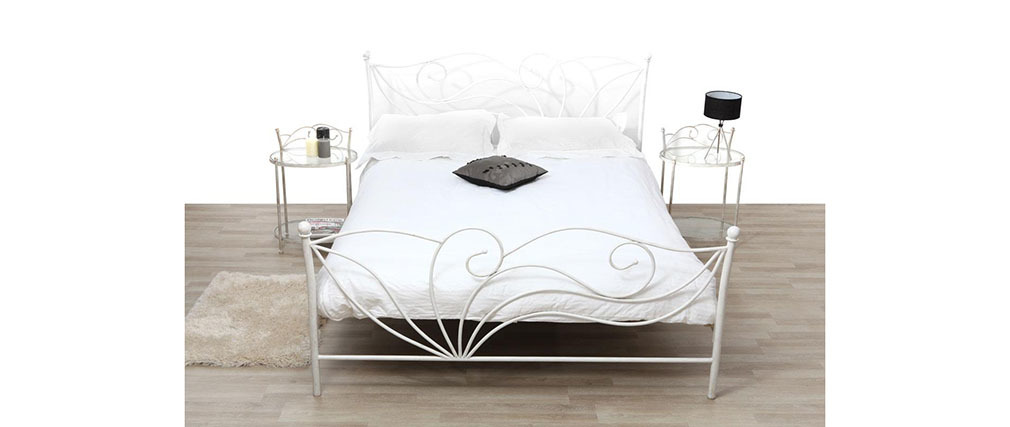 VENEZIA White Baroque Bed 160x200