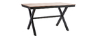 VIAGGIO garden set with 4 chairs and table in black and wood