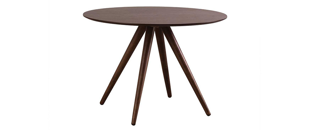 WALFORD Walnut Modern Round Dining Table 106cm