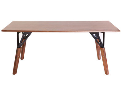 Walnut Modern Dining Table WADDEN 180x90cm