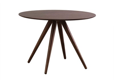 Walnut Modern Round Dining Table 106cm WALFORD