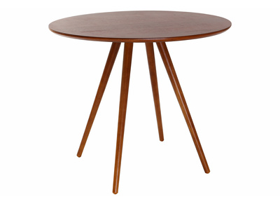 Walnut Modern Round Dining Table ARTIK