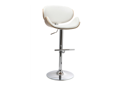 White and Light Wood Bar Stool WALNUT
