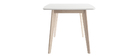 White and Light Wood Modern Dining Table LEENA L150
