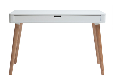 White and Wood Scandinavian Style Desk TOTEM