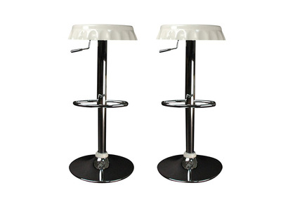 White Bar/Kitchen Stool CAPSULE (set of 2))