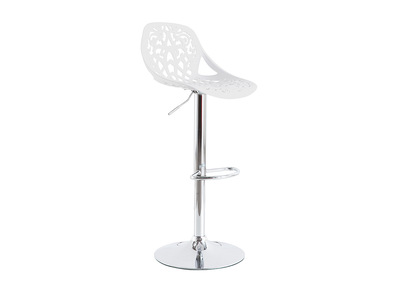 White Baroque Design Bar Stool BAROCCA