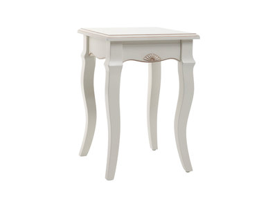White Baroque Stool/Side Table BIANCA