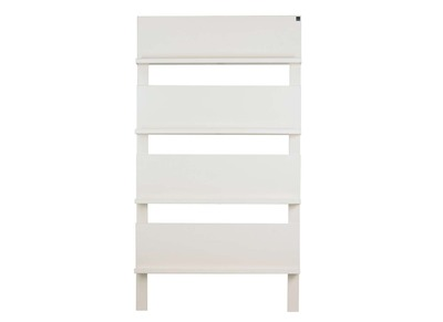White Brushed Pine Bookcase MALY