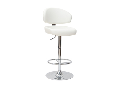 White Contemporary Bar/Kitchen Stool NEPTUNE
