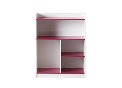 White/Fuchsia Kids Shelving Unit CREA