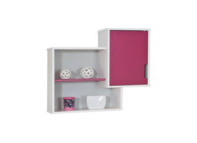 White/Fuchsia Kids Wall Shelves CREA
