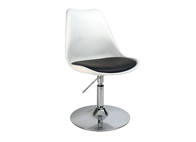 White Height Adjustable Modern Swivel Chair STEEVY