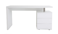 White lacquer modern desk 3 drawers CALIX
