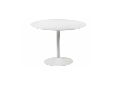 White Lacquer Modern Round Dining Table 110cm TURAS