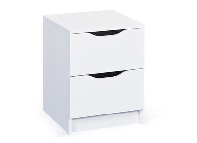 White Modern 2 Drawer Storage Unit DRAW