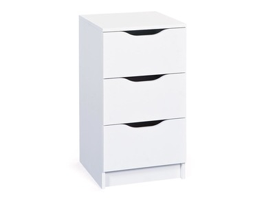 White Modern 3 Drawer Storage Unit DRAW