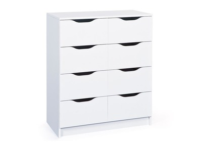 White Modern 8 Drawer Storage Unit DRAW