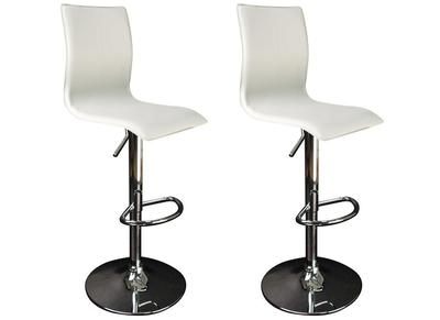 White Modern Bar/Kitchen Stool SURF ALTO (set of 2)