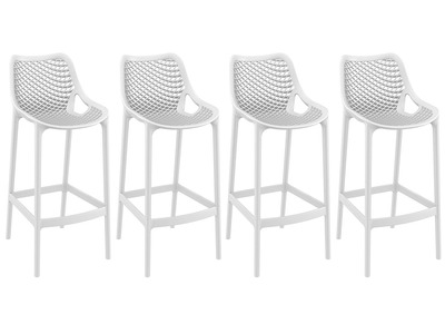 White Modern Bar Stool 65cm LUCY (set of 4)