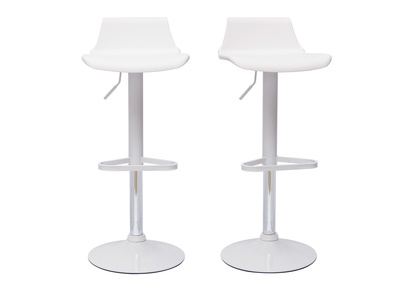 White Modern Bar Stool KRONOS (set of 2)