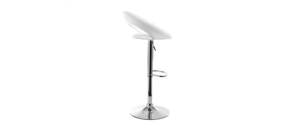 White Modern Bar Stool NEWTON