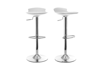 White Modern Bar Stool NOVA (Set of 2)