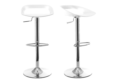 White Modern Bar Stool PHENIX (set of 2)