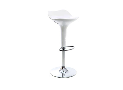 White Modern Bar Stool URANUS
